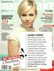 NakedCherry Press Marie Claire