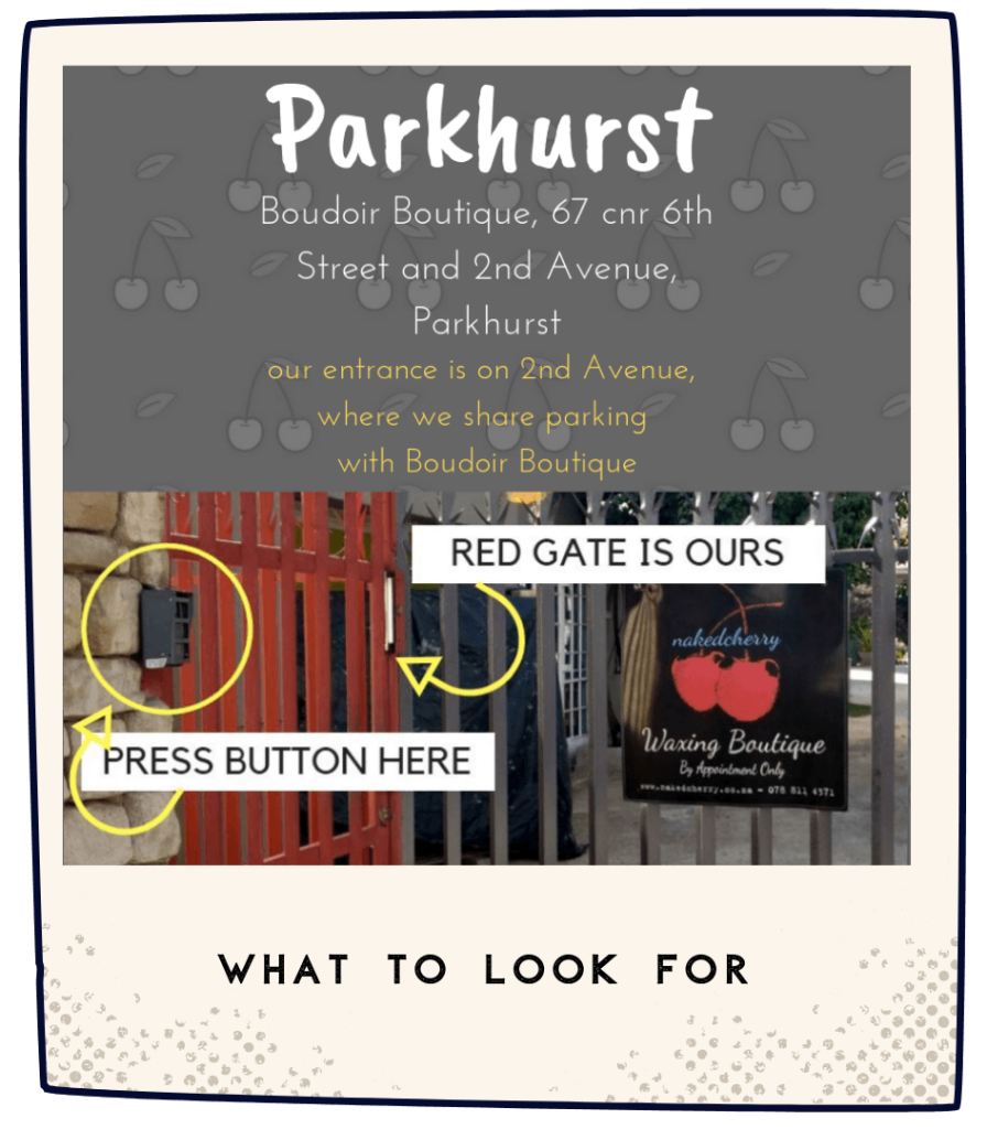 NakedCherry Parkhurst Visual Location Guide