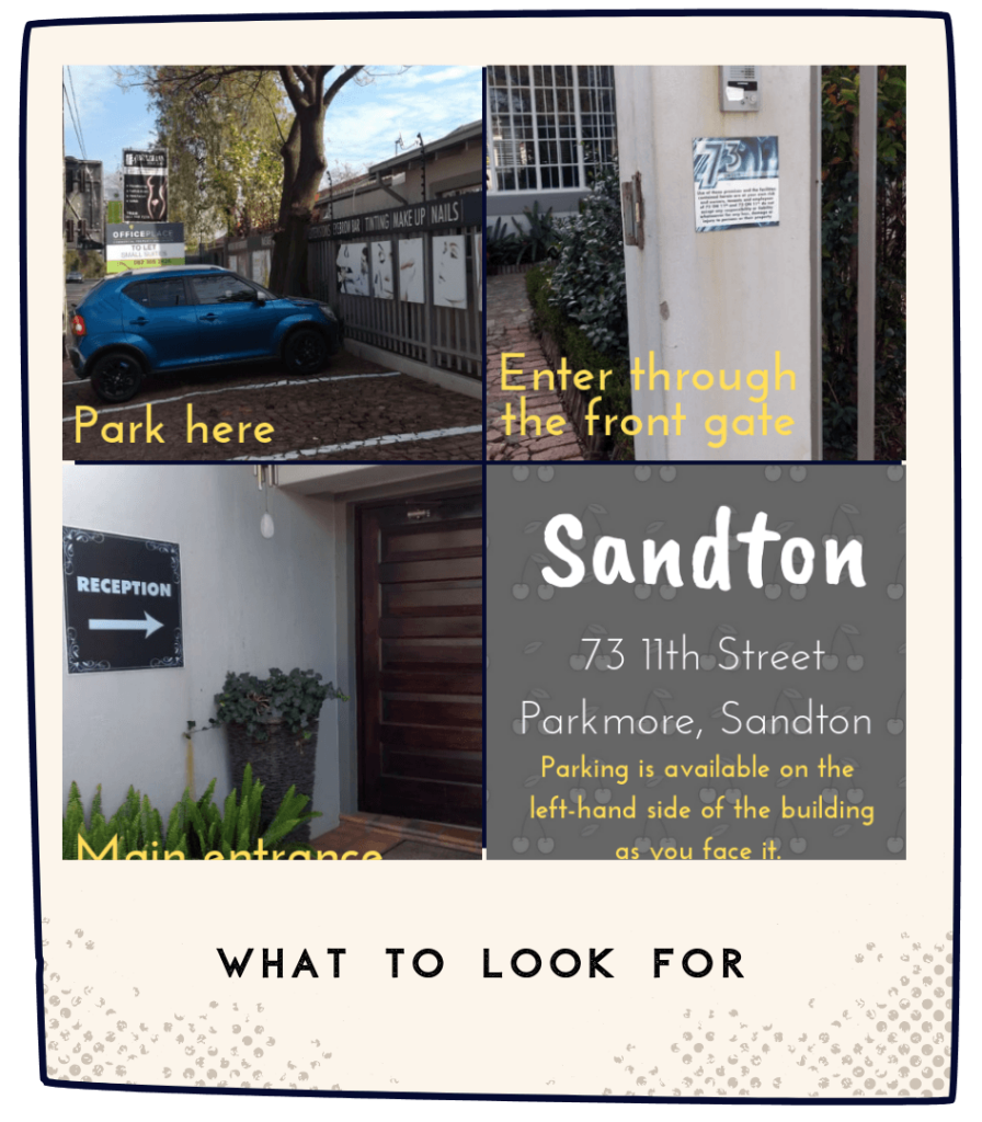 NakedCherry Sandton Visual Location Guide