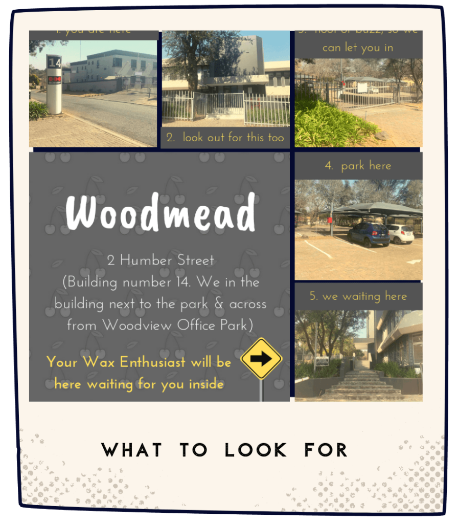 NakedCherry Woodmead Visual Location Guide
