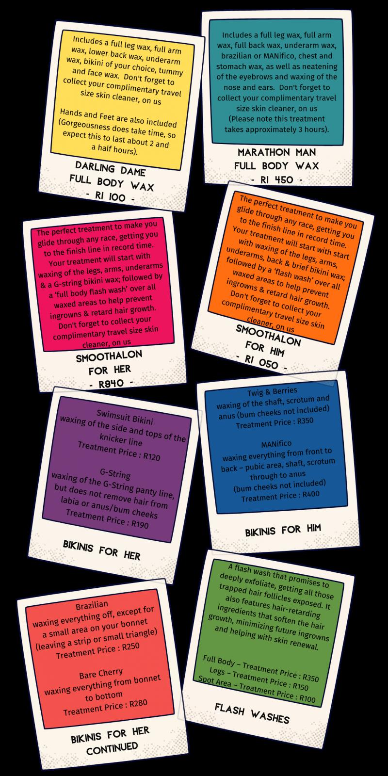 NakedCherry Downloadable Treatment Menu #1